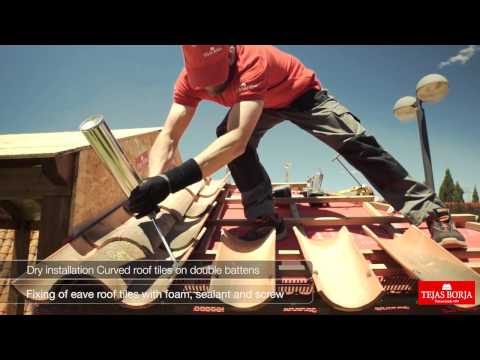 How to fit Clay roofing tiles using dry installation system - Tejas Borja