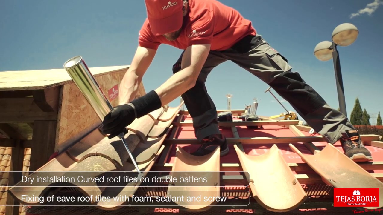 how to fit clay roofing tiles using dry installation system tejas borja