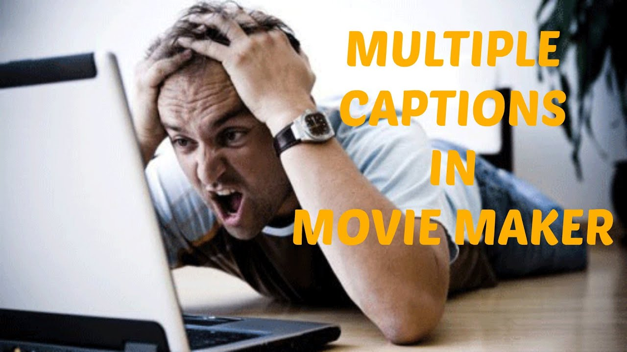 how to put caption on movie maker