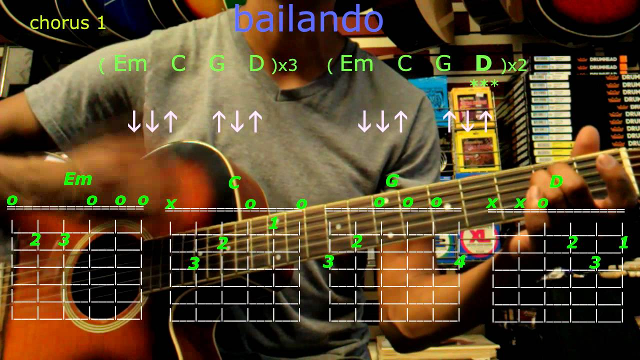 Bailando Enrique Iglesias Guitar Chords Youtube