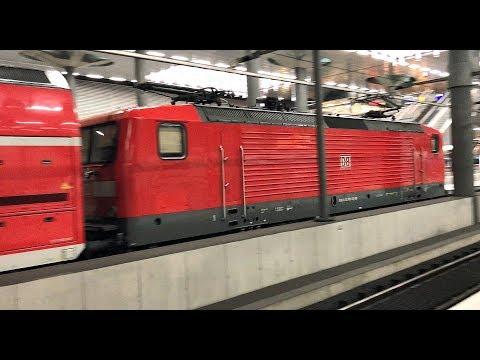 DEUTSCHE BAHN service departs Berlin Hauptbahnhof (underground station), Germany