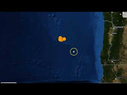 151 Juan de Fuca Earthquake Swarm Off Oregon Coast, Recent Underwater Volcanic Activity