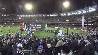 Collingwood run through banner  GWS semi final MCG 2018  Melbourne