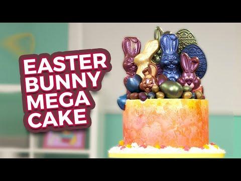 Easter Bunny MEGA CAKE!   Secret Surprise INSIDE…   How To Cake It