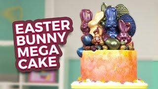Easter Bunny MEGA CAKE! | Secret Surprise INSIDE… | How To Cake It