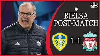 'Super League Harms Football' | Marcelo Bielsa Press Conference | Leeds Utd 1-1 Liverpool