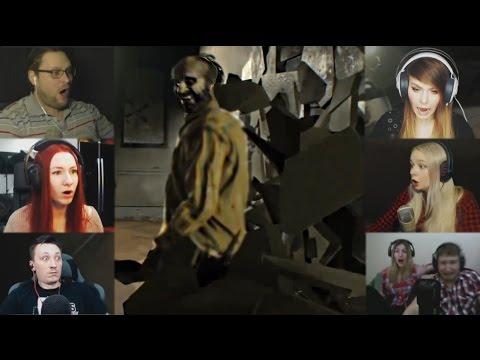 """""""Реакции Летсплейщиков"""" на Пролом Стены от Деда из Resident Evil 7"""