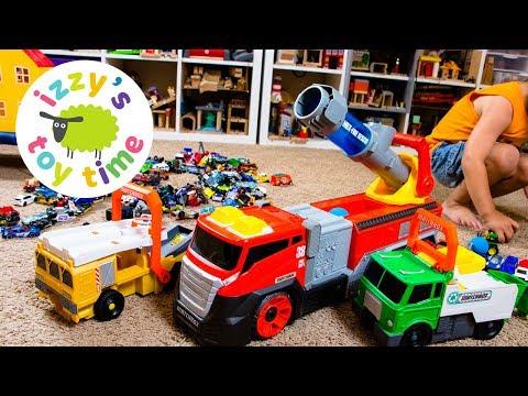 Cars for Kids | Matchbox Hot Wheels SUPERBLAST Firetruck and Power Launch Trucks for Kids