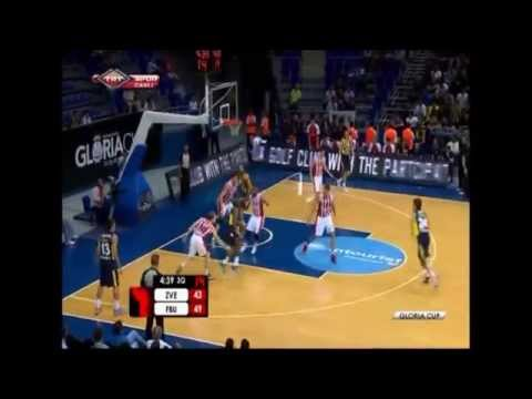 Jan Vesely Posterizes Boban Marjanovic - Fenerbahçe Ülker vs Red Star 24.09.2014