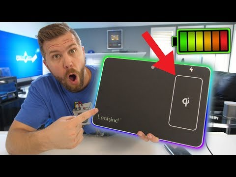 $30 RGB Mouse Pad QI WIRELESS to Charge Your Phone!