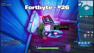 Fortnite S9 - Fortbyte #26 Location (posability of getting bugged)