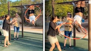 'Karen' Yells at World Hula Hooping Champion on Monkey Bars