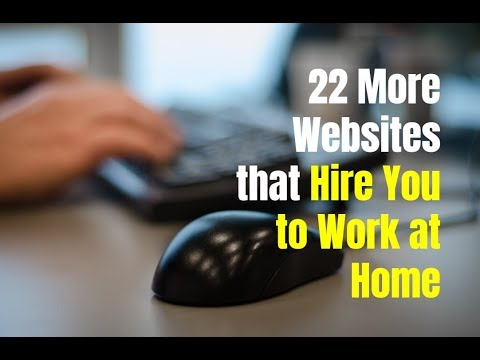 22 More Websites that Hire You to Work at Home