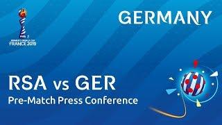 RSA v. GER - Germany - Pre-Match Press Conference