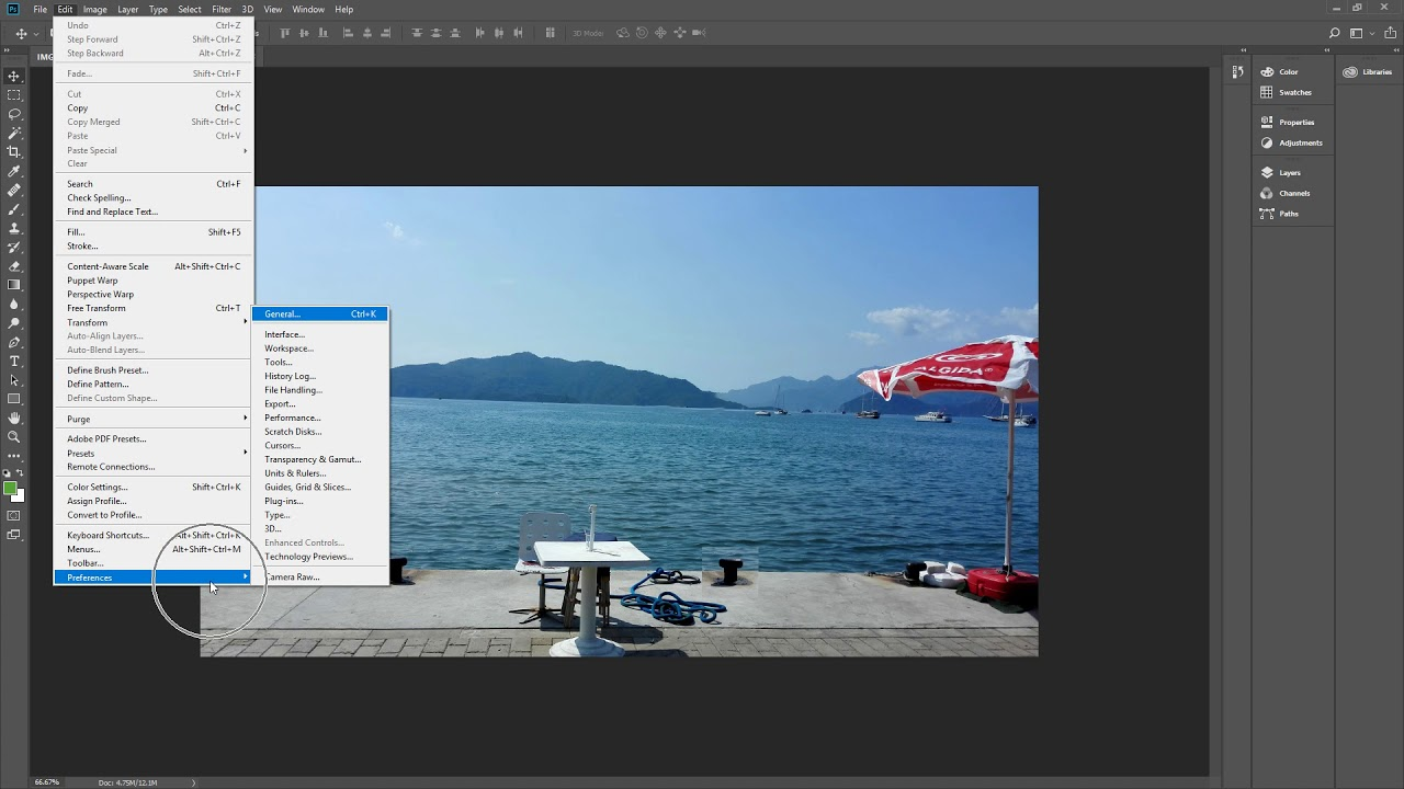 How To Reset preferences in Photoshop CC 2018