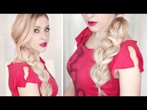 Стильная небрежная коса в богемном стиле ★ Причёска на каждый день