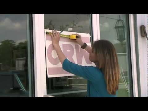 bestbuysignscom applying vinyl lettering to a glass door youtube