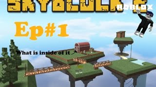 Roblox|Skyblock|Ep#1:-What is in hen building?
