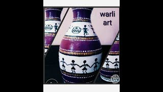 DIY, learn to paint terracotta pot beautifully with warli art...