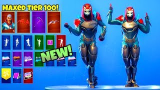 TIER 100 FINAL STAGE Mit allen *NEU* & Leaked Emotes..! (Schaufenster) Fortnite Battle Royale