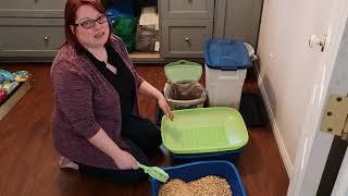 Wood pellet kitty litter system