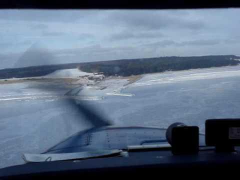 Ruhnu approach Cessna 172