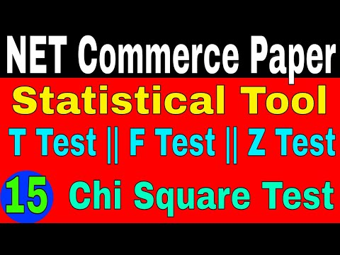 Statistical Tool    T Test    F Test    Chi Square Test    Z Test    My Commerce Info