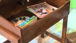 Schoolhouse Desk And Chair Set Walnut - Product Review Video