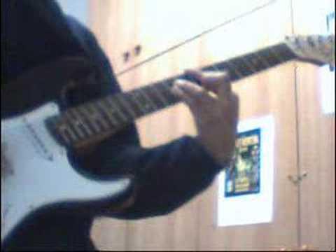 Dragon Ball Z Rock the dragon ( English intro ) on guitar .