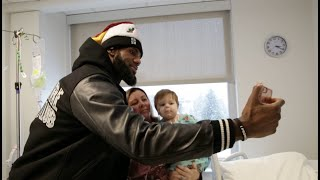 Video Cavs players and coaches visit patients at Cleveland Clinic Childrens' Hospital download MP3, 3GP, MP4, WEBM, AVI, FLV Desember 2017