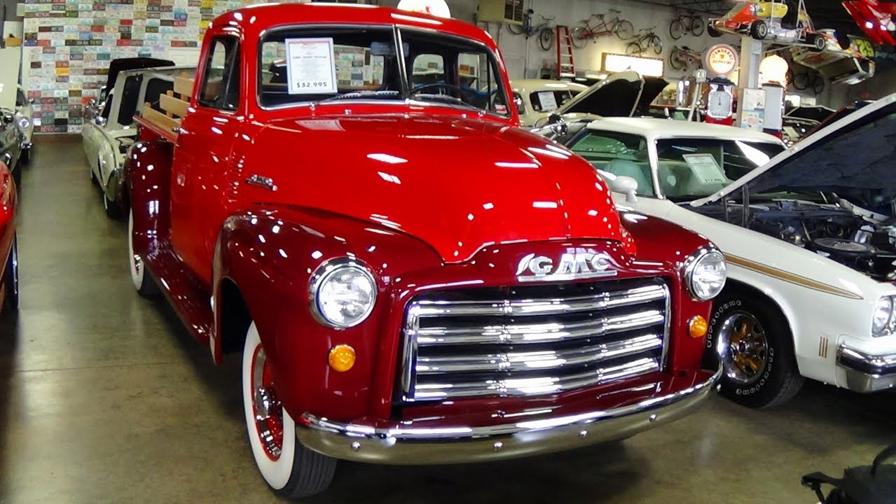 1951 Gmc 3600 Five Window Pickup Freshly Restored 235 Inline Six 1952 Wiring Diagram Four Speed Manual Youtube