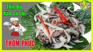 ✅ Thịt Bò Xào Lá Lốt Chuẩn Vị | Hồn Việt Food