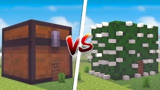Minecraft: CASA DE BAU GIGANTE VS. CASA DE CACTU  ‹ JUAUM ›