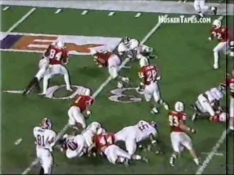 1996 Orange Bowl Nebraska vs Virginia Tech: Jason Peter TD with Radio Audio