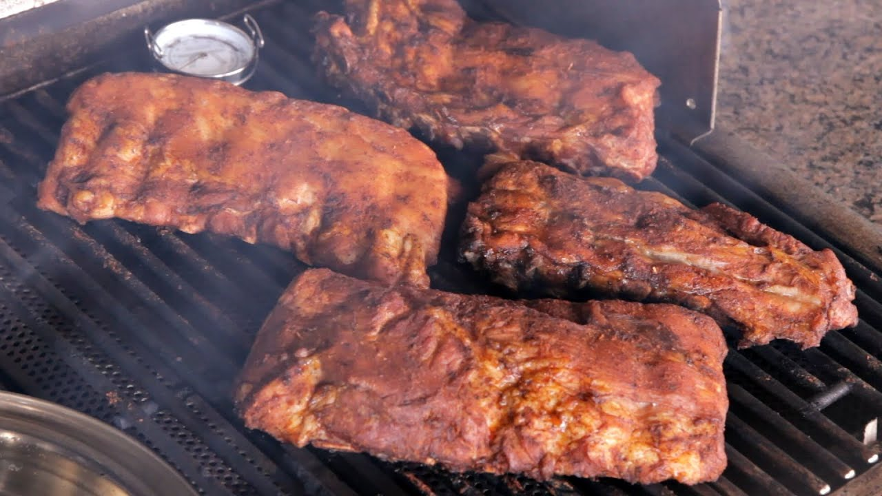 How To Cook Ribs On A Gas Grill Youtube