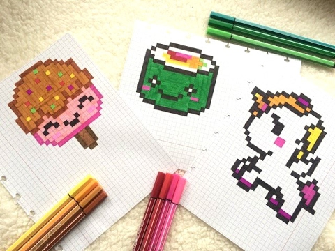 Pixel Art Sushi Sorbet Licorne Kawaii Youtube