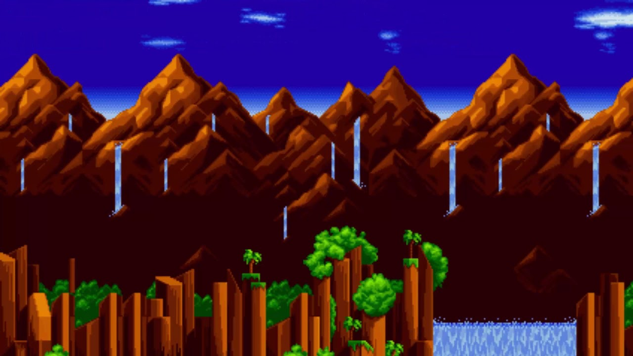 Green Hill Zone Act 2 Background Loop Youtube