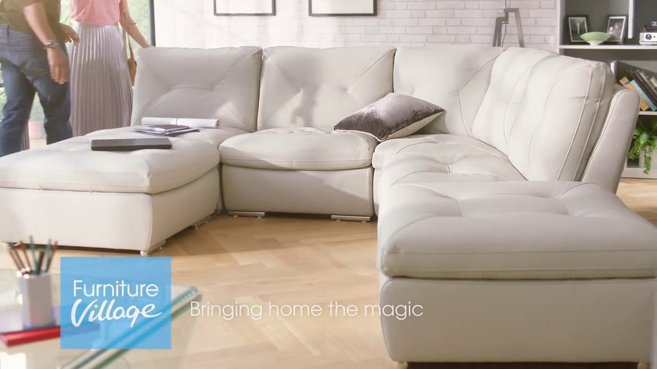 Furniture Village Sofas furniture village tv campaign - embrace corner sofa with stool