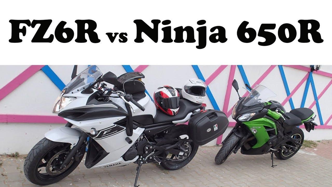 Top Speed Kawasaki Ninja 650r Er6f Vs Yamaha Fz6r Xj6 Diversion