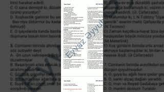 Azərbaycan dili 15 suallıq sınağın izahı Eyvaz Əyyub