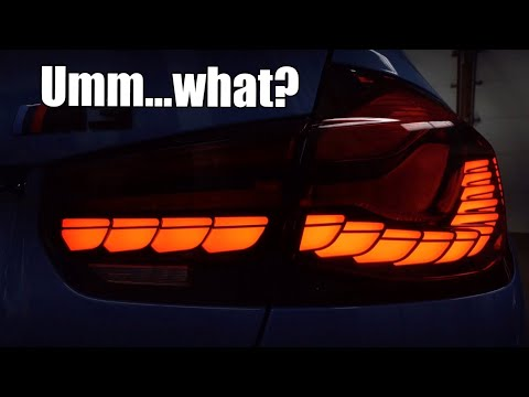 The truth about these BMW M3 LED tail lights… (OLED GTS style DIY install)
