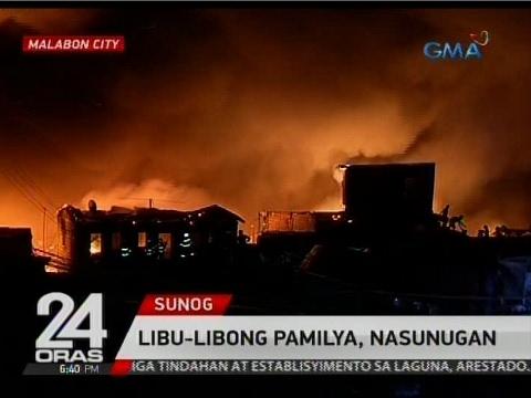 24 Oras: Libu-libong pamilya sa Malabon, nasunugan