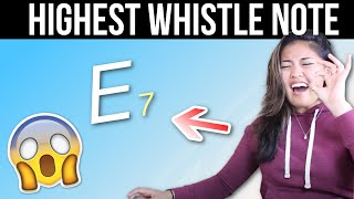 I HIT MY HIGHEST WHISTLE NOTE EVER!?!