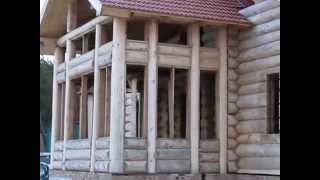 Деревянный дом в Ростове(Строительство деревянного дома в Ростове из живого бревна по канадским технологиям. Загородный дом постро..., 2014-06-29T09:27:54.000Z)