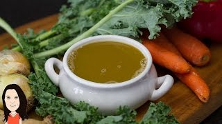 Homemade Vegetable Stock In Just 5 Minutes - Quick And Easy!