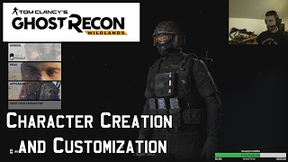 ghost recon wildlands character creation and customization