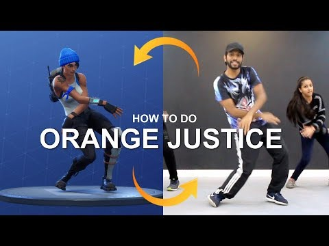 "FORTNITE Dance in Real Life   How to Do ""ORANGE JUSTICE"" Dance   Deepak Tulsyan Dance Tutorial"