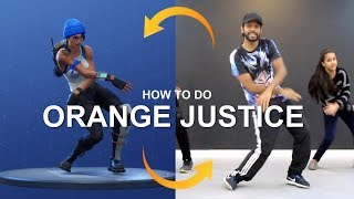 "FORTNITE Dance in Real Life | How to Do ""ORANGE JUSTICE"" Dance 