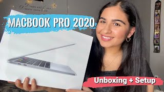 UNBOXING New Silver 2020 MACBOOK PRO 13 inch | MacBook Pro Unboxing + Setup