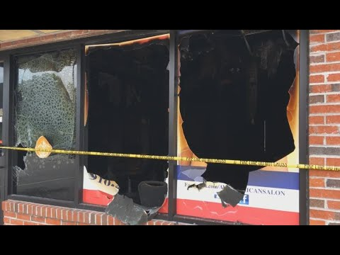 RAW VIDEO: Scene After Fire At Hair Salon In Fayetteville